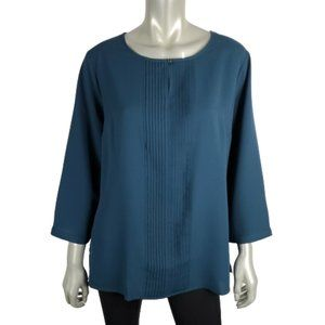 Lands' End Outfitters Womens Pleated Top Plus 16